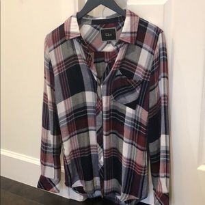 Rails plaid button down shirt XS